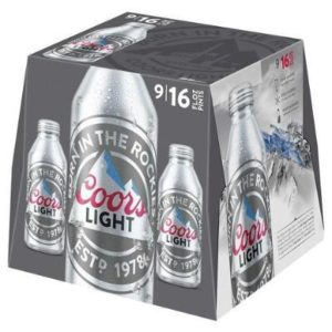 Coors Light 9PKB 16 OZ