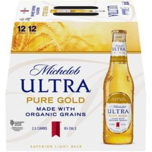 Michelob Ultra Pure Gold 12PKB 12 OZ