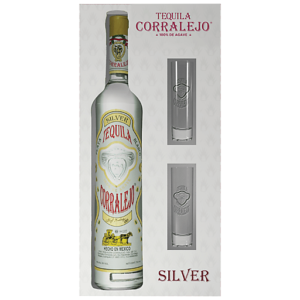 Corralejo Blanco Gift Set with glasses 750ml